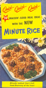 Smackin' Good Meal Ideas from Minute Rice - 1949